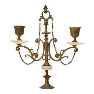 c.1890 French Japy Freres 3 pc Onyx & Brass Clock Set