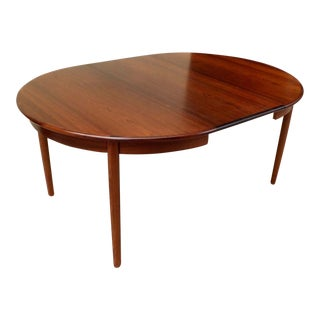 Danish Mid-Century Modern Extendable Rosewood Dining Table with Leaves