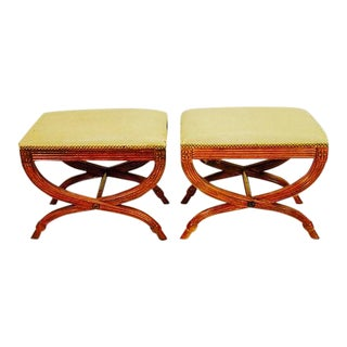 Neoclassical Stools by Baker Furniture - A Pair
