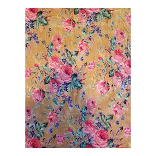 Cotton Velvet Floral Fabric 3yds
