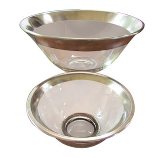 Dorothy Thorpe Silver Rimmed Chip & Dip Bowl Set