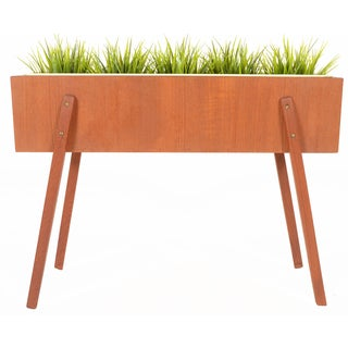Danish Modern Angular Teak Planter