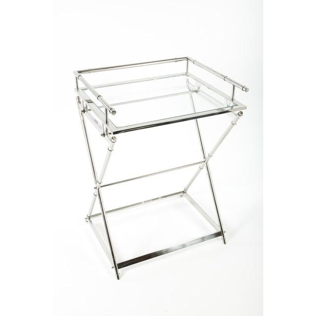 Image of Art Deco Glass Top Bar Cart