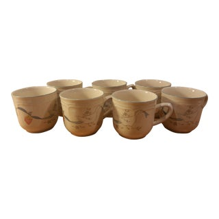 Intl. China Stoneware Duck Coffee Mugs - Set of 7
