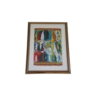 """""""Pilgrimage"""" Hand Signed Serigraph by Shraga Weil"""