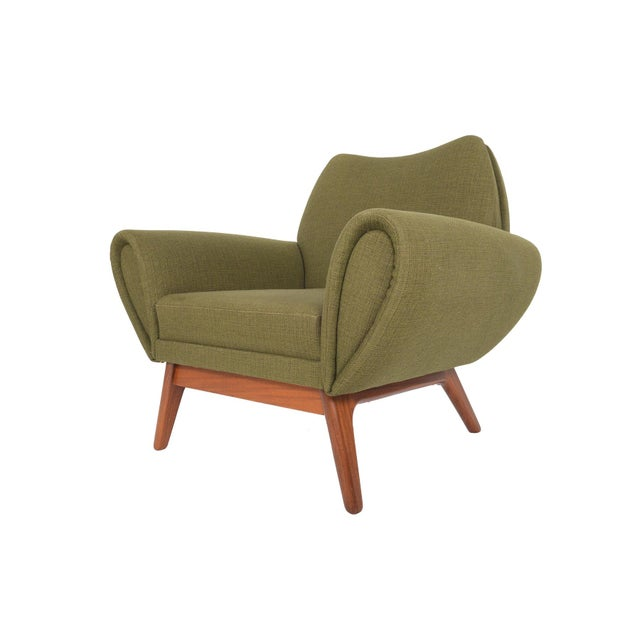 Johannes Andersen Lounge Chair in Olive - Image 6 of 11