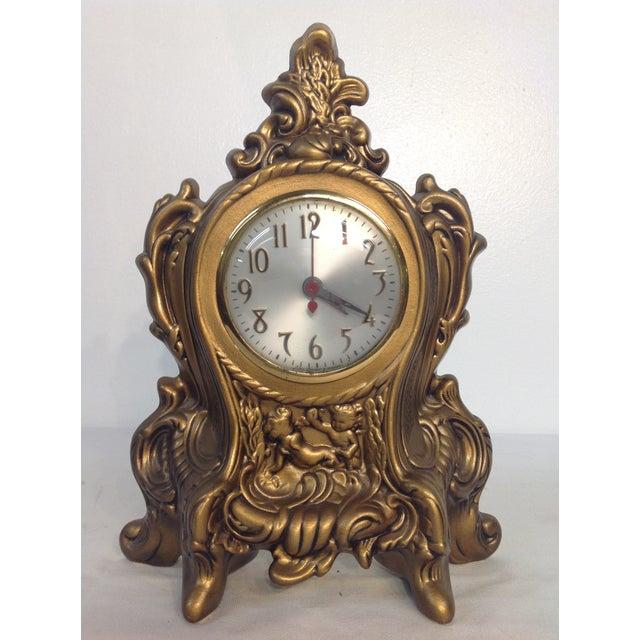 Cherub Ceramic Lanshire Mantle Clock Holland Mold - Image 2 of 10