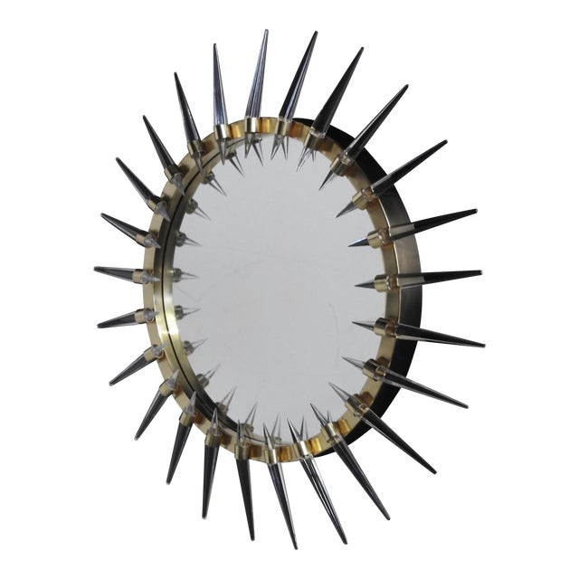 Image of Mid-Century Style Lucite Spike Mirror
