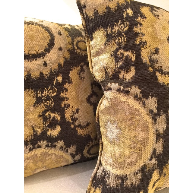 Image of Modern Gold Tapestry Pillows - A Pair