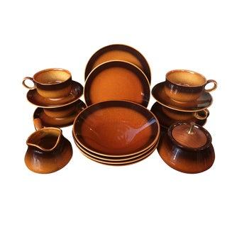 Ironstone Amber China Dinnerware - Set for 4