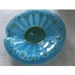 Image of Blue Art Glass Higgins Style Dish