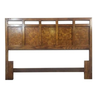 Contemporary Carved Maple Headboard