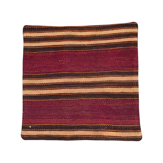 Vintage Striped Kilim Pillow Case - Image 1 of 5