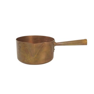French Solid Copper Saucepan by Matfer