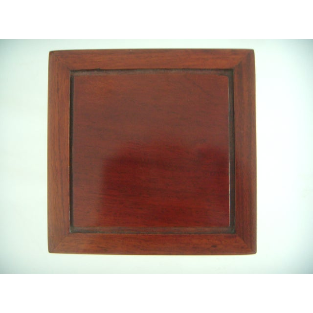 Ornate Chinese Rosewood Display Stand - Image 7 of 8