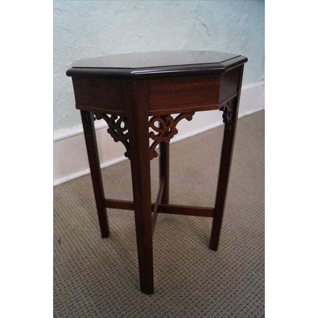 Madison Square Mahogany Chippendale Tables - Pair - Image 8 of 10
