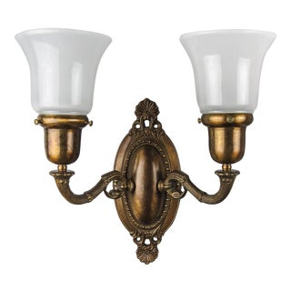 Edwardian 'Dolphin' Wall Sconce (Double Arm)