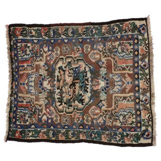 Vintage Persian Bakhtiari Rug - 2'9 x 3'2