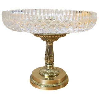 Charles X Ormolu and Cut Crystal Tazza