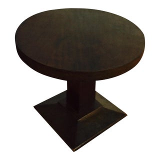 1940s Vintage French Walnut Round Table
