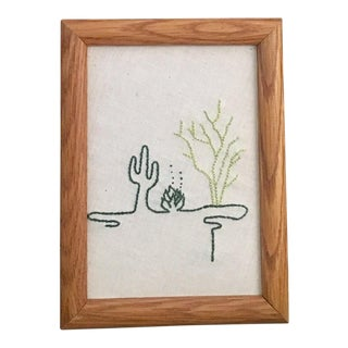 Line Art Cacti Trio Embroidery