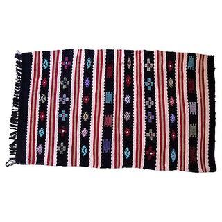 "Berber Flat-weave Rug - 3' x 4'11"""