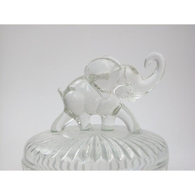 Glass Lidded Elephant Bowl - Image 4 of 7