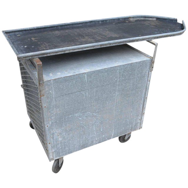 Bar on Wheels / Potting Table / Plant Stand from Galvanized Vet Exam Table - Image 1 of 10