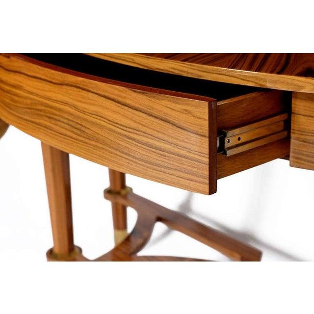 Image of Pair Michael de Santis Brazilian Rosewood Demilune Consoles