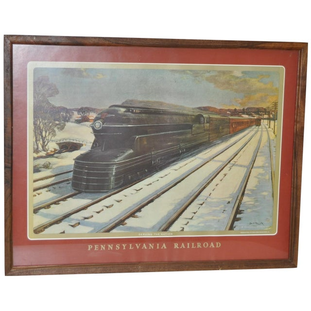 Vintage Pennsylvania Railroad Print - Image 1 of 5