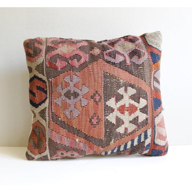 Vintage Turkish Kilim Pillow - Image 2 of 5
