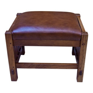 Cherry Hardwood Stickley Footstool