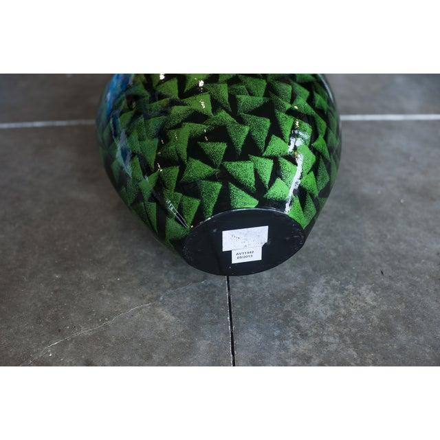 Hombre Green & Black Short Vase - Image 3 of 3