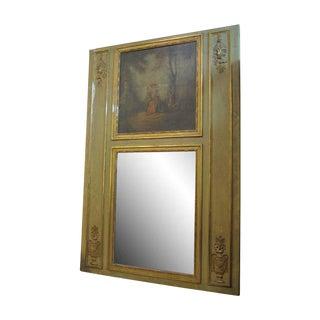 Louis XVI Style Olive Trumeau Mirror