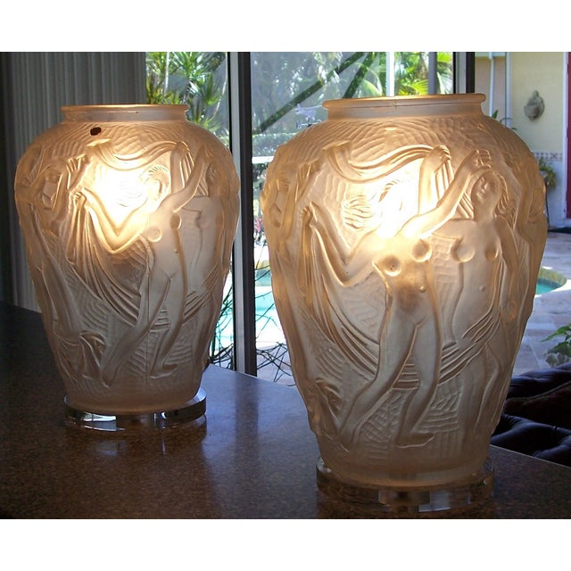 Mid Century Modern Bohemian Czech Lamps - Pair - Image 4 of 7