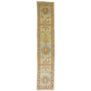 Vintage Turkish Oushak Runner - 2'9'' X 13'5''