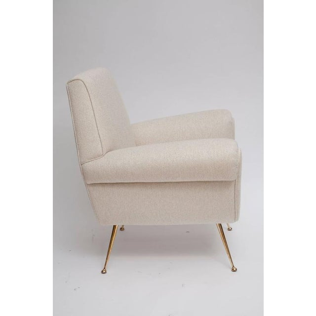 Fully Restored Pair of 1950s Italian Lounge Chairs by Gigi Radice for Minotti - Image 5 of 10