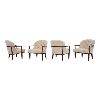 Edward Wormley Set of Four Janus Chairs for Dunbar