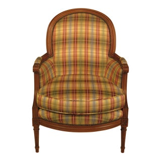 Baker French Louis XV Style Upholstered Living Room Chair