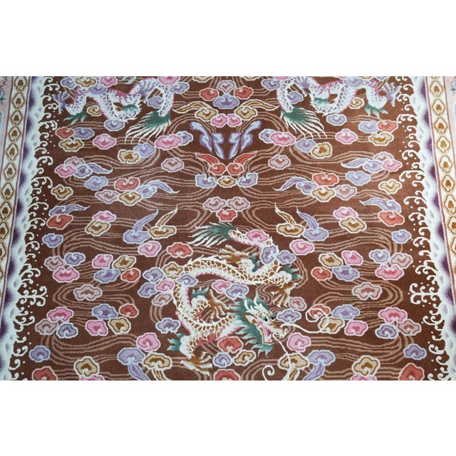 """Hand Knotted Wool Oriental Dragon Rug - 6' x 10'2"""" - Image 3 of 8"""