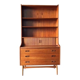 Danish Modern Secretary Bookcase