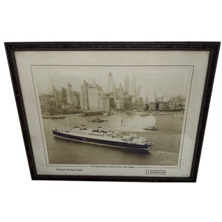 S.S. Manhattan Arrives in New York Photo