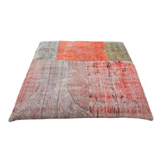 Vintage Turkish Patchwork Floor Pillow
