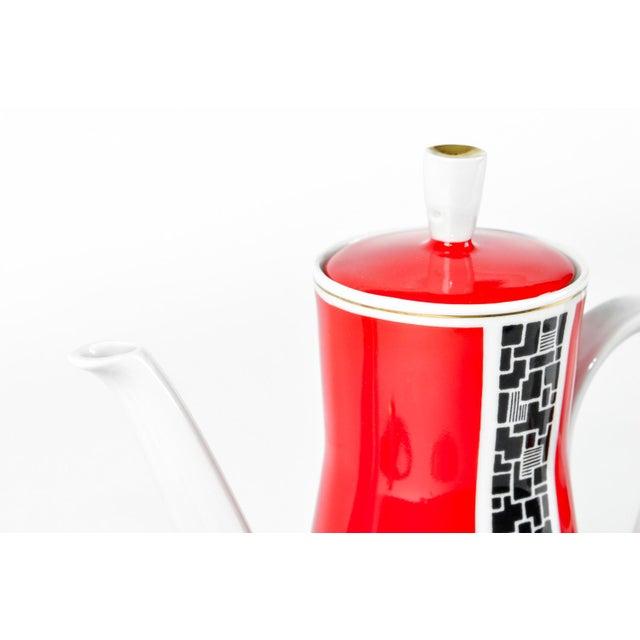 Art Deco Porcelain German Espresso Set - 17 Pieces - Image 4 of 11