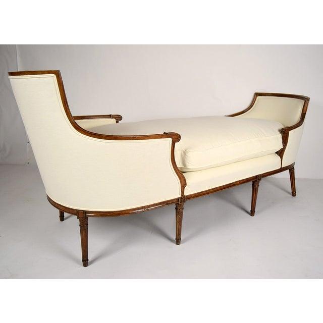 19th c walnut louis xvi chaise lounge duchesse chairish for Chaise louis xvi
