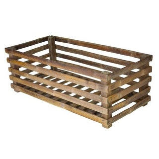 Vintage Handcrafted Exotic Bamboo Crate