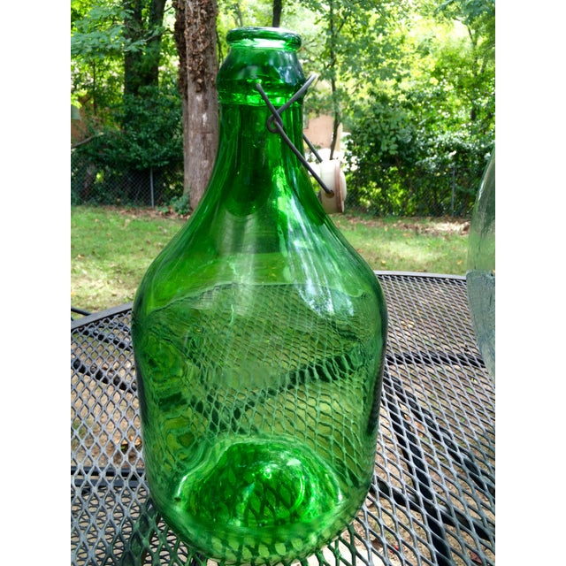 Vintage Italian Demijohn, Personalized Set - Image 4 of 8