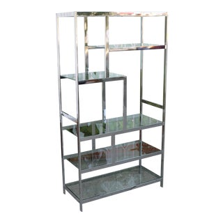 Chrome Modern Etagere