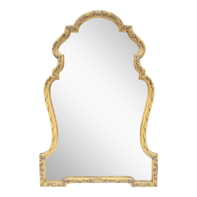 Baroque Gold Hand Painted Mirror by La Barge - Image 1 of 4