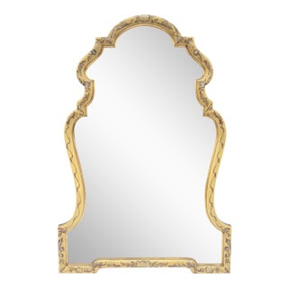 Baroque Gold Hand Painted Mirror by La Barge